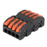 3Pcs SPL-4 CH4 Quick Terminals Wire Connector Push-on connector Rail Terminal Block