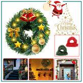 5.5M Decoração da árvore de Natal Porta de guirlanda pendurada Guirlanda Janela Ornamento de parede Festa