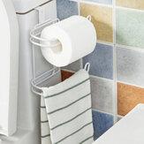 Toilet Roll Paper Holder Door Back Hanging Towel Roll Tissue Rack Kitchen Cupboard Paper Storage