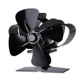 1200RPM Mini Heat Powered Stove Fan 4 Blade Silent Fireplace Eco Fan Heating Distribution No Electricity Or Battery