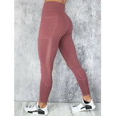 Leggings con maglie casual Yoga Running Sport Sottile Leggings