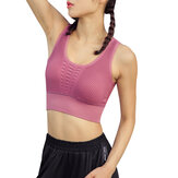 Women Causal Hollow  Solid Color Sport Tank Bra