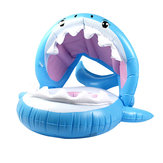 Kid Children Inflatable Swimming Ring Baby Float Shark Swimming Pool with Removable Sunshade