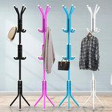 12 Hooks Metal Coat Stand Rack Clothes Hat Storage Hanger Holder Home Tree Entryway