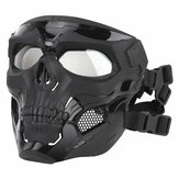 Wosport Skull Tactical Airsoft Mask Paintball CS Military Protective Full Face voor snelle helm