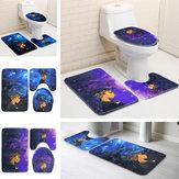 African Girl Bad Set Wasserdichte rutschfeste Matten Teppich Sockelteppich WC Deckel Abdeckung Badematten