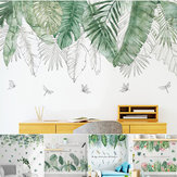 DIY Tropical Leaves Plant Flower Wall Sticker Art Home Decor Office Decal Mural