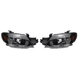Pair Left + Right Front Head Light Lamp LED Headlights For Mitsubishi Outlander 2003-2006