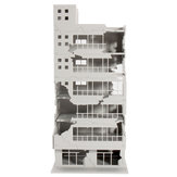 Scale 1/144 White Battle Corner Ruined Building Model Building For Home Decoration