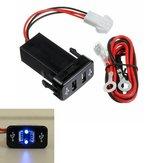 12 / 24V Caricabatteria da auto doppio USB Adattatore rapido 2.1A per TOYOTA per la maggior parte dei MP3 Smartphone