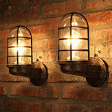 Vintage Industrial Unique Wall Lamp Iron Rustic Copper Steampunk Lamp Sconce