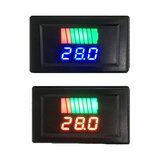 12-60V Car Lead Acid Battery Charge Level Indicator Battery Tester Lithium Battery Capacity Meter Dual LED Tester Digital Voltmeter
