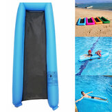 Inflatable Floating Lounger Portable Water Float Bed Swimming Pool Sea Inflating Recliner