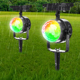 Solar Power Garden Rotating Lights Outdoor Landscape Path Yard Projector Light Decorations