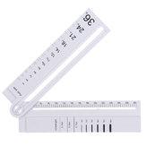 متعددة الوظائف قياس زاوية قابل للتعديل DIY زاوية حاكم منقلة الرياضيات هندسة الرسم حاكم