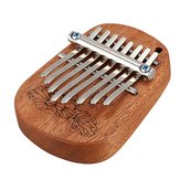 GECKO K8mini/K-8CM/K-8CA 8 Key Camphor/Mahogany Mini Kalimbas Thumb Piano with Tuning Hammer