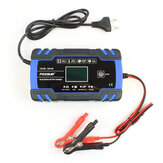 FOXSUR 12V 24V 8A 4A Touch Screen Pulse Repair LCD Battery Charger Blue For Car Motorcycle Lead Acid Battery Agm Gel Wet