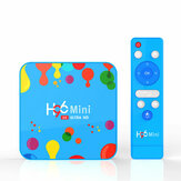 US H96 Mini Allwinner H6 4GB RAM 128GB ROM 5G WIFI bluetooth 4.0 Android 9.0 4K 6K TVボックス+ T1 2.4Gワイヤレス6軸ジャイロスコープ音声リモコン