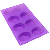 8-Cavity Oval Soap Mold Silicone Chocolate Mould Tray Homemade Muffin Making Tool Baking Mould