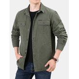 Men Multi Pockets 100% Cotton Tooling Jacket
