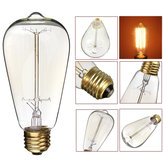 KINGSO ST64 E27 60W vintage bianco caldo incandescente antico lampadina Edison per interni casa AC110V 220V