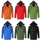 M-XXL Impermeable Abrigo a prueba de viento Nieve Invierno Chaqueta cálida con capucha Outwear al aire libre Ropa para senderismo pesca