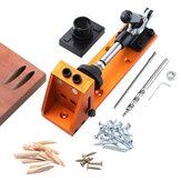 Taschenlochlehre 9,5 mm Dübellehre Aluminiumlegierung Bohrerführung Mit Schnellbefestigung Klemmfuß Zum Bohren von Holzbearbeitungswerkzeugen