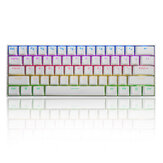 FEKER 60% NKRO bluetooth 5.0 Type-C Outemu Switch PBT Double Shot Keycap RGB Mechanical Gaming Keyboard--White