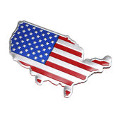3D Car Auto Stickers Metal USA United States American Map Flag Decal Emblem