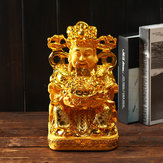Wealth Gold Plating Statue Wencaishen Feng Shui Ornament Decorations Mascot Bring More Wealth for You