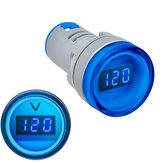 5 pezzi Blu 22MM AD16 AD16-22DSV Tipo AC 60-500V Mini misuratore di tensione LED Digitale Display AC Voltmetro Indicatore luminoso / Pilota lampada 110 V 220 V