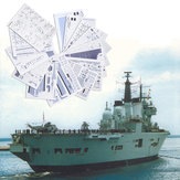 1:400 3D Paper Model DIY England Invincible Class Aircraft Carrier Ship Boat Kit Sailing Boats Model