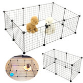 6/10 Panels Foldable Pet Puppy Playpen Crate Fence Kennel Exercise Animal Cage Ped Bed