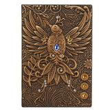 Phoenix Retro Relief Europeu Retro Notebook Escola Escritório Notepad Papelaria Suprimentos