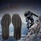 Herren DIY Paar Anti-Rutsch-Grip-Gummi-Pads Kleben auf Sohlen Ferse Schuhreparatur Schwarz