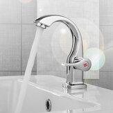 Moderne Swan cou Chrome salle de bain bassin robinet cascade bec simple poignée évier bain simple robinet froid