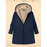 Women Casual Zipper Winter Warm Outwear Jacket Coats