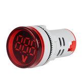 3ピース赤ST16VD 22ミリメートル穴サイズ6-100 VDCデジタル電圧計ラウンド電圧検出器テスターミニLED電圧インジケーター信号光モニター