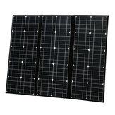 5V USB Bağlantı Noktası ile 100W 18V Katlanabilir Portatif Monokristal Solar Paneli