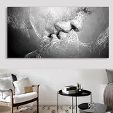 Zwart-wit Love Kiss Wall Art Picture Print Abstracte kunst op schilderijen voor kamerdecoraties
