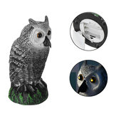 Dummy Owl Hunting Decoy Glowing Eyes Dekorasi Taman Suara