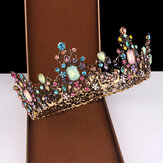 Vintage Gold Inlaid Colored Diamond Hairband
