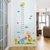 Miico SK9340 Girafa E Elefante Pintura Heights Adesivo Quarto de Crianças E Jardim de Infância Adesivo de Parede Decorativo