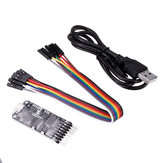 10-in-1 CP2102 USB to TTL Serial Converter Module Multi-function Serial Port Board RS485 RS232 with Cable 0-30V