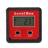 Drillpro 2-key Mini Precision Digital Inclinometer Level Box Protractor Angle Finder Gauge Meter with Magnet Base