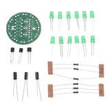 3 sztuki DIY Zielona dioda LED Okrągła Flash Elektroniczny zestaw produkcyjny Komponent Lutownica Treningowa