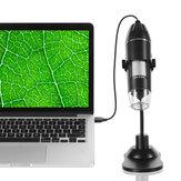 1000X Portable 8 LED Gradateur réglable léger Pratique Microscope portable à main Ordinateurs Inspection vidéo en temps réel Microscope numérique