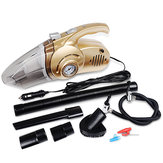 4-in-1 Car Handheld Vacuum Cleaner Portable Wet&Dry Car Cleaner with Digital Tire Inflator Pump Pressure Gauge and LED Light