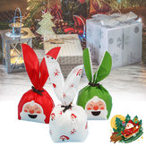50Pcs Merry Christmas Bags Candy Gift Bag Papai Noel Deer Present Packing Decorations