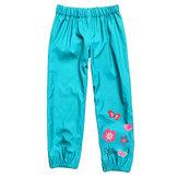 Pioggia all'aperto per bambini Pantaloni Impermeabile antivento per ragazze Fiore Pantaloni per 2-9 anni